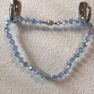 Vintage blue necklace and bracelet set